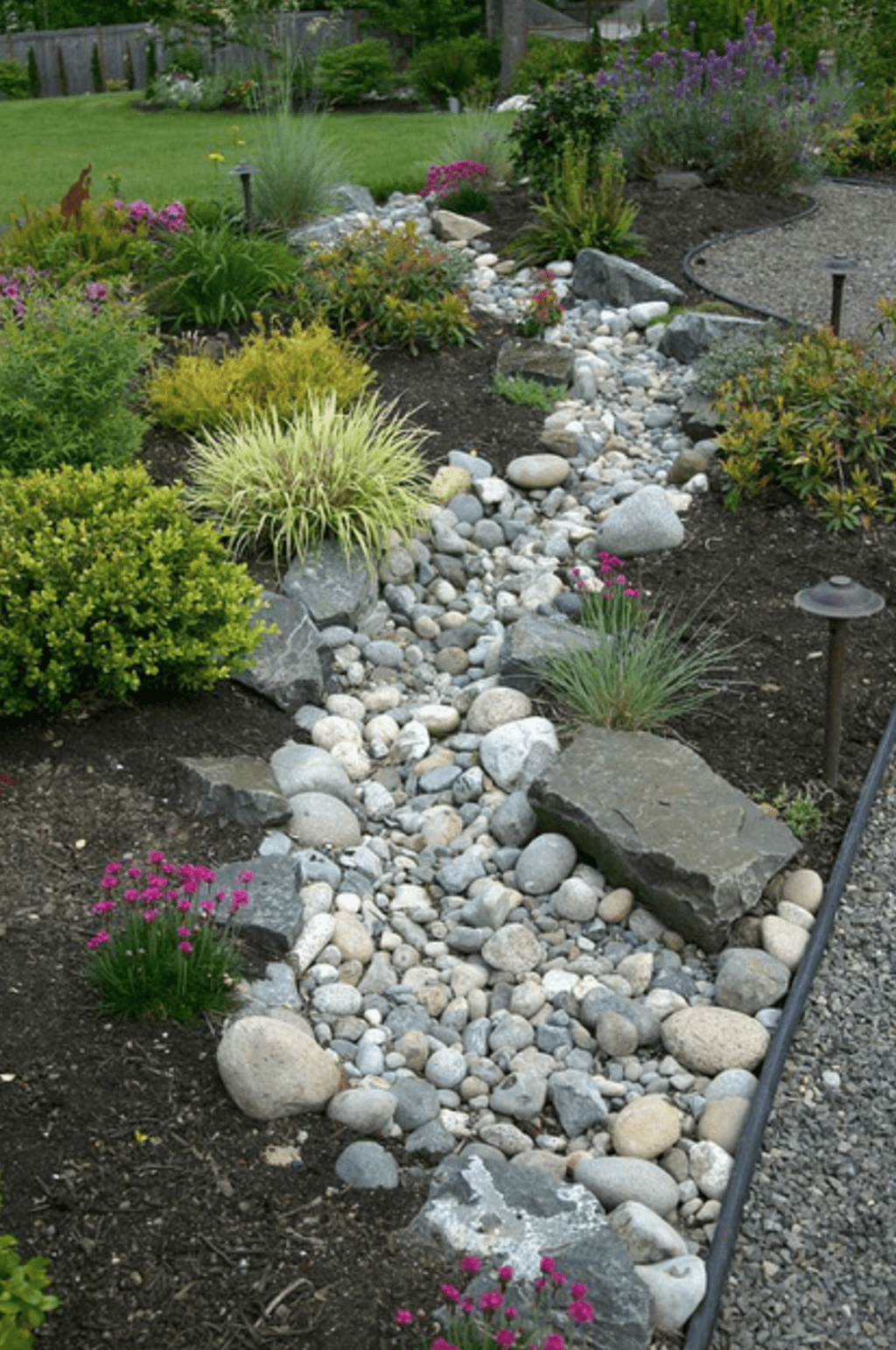 Awesome River Rock Landscaping Ideas 26