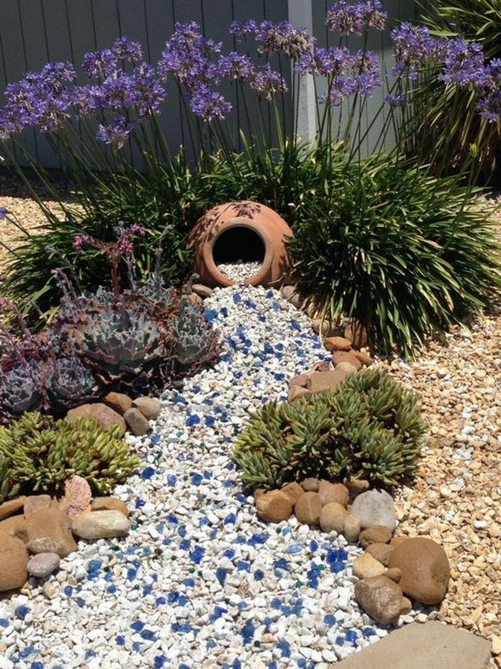 Awesome River Rock Landscaping Ideas 29