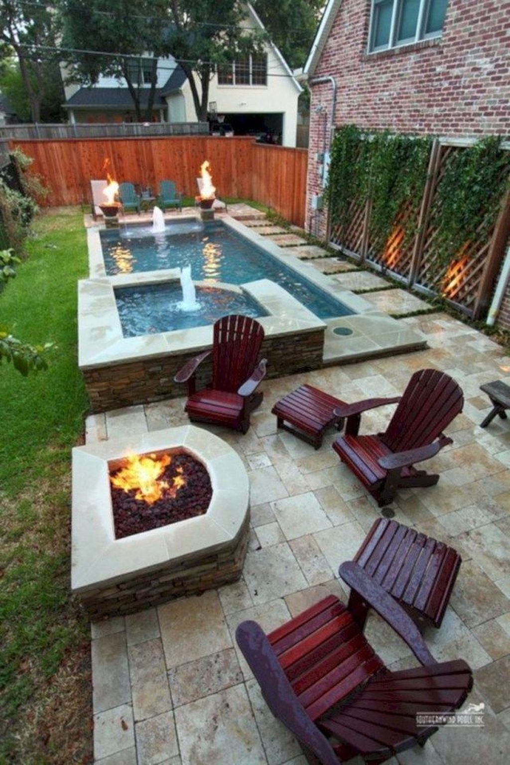 Awesome Small Pools Design Ideas For Beautiful Backyard Landscape 20