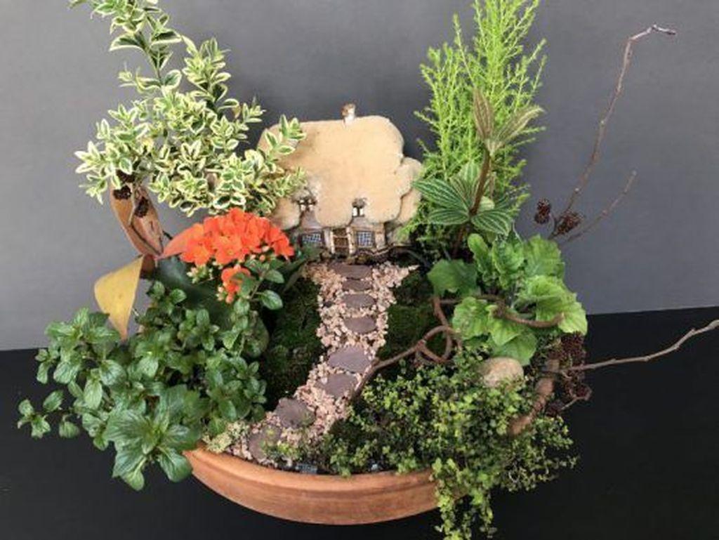 Beautiful Fall Fairy Garden Design Ideas 04