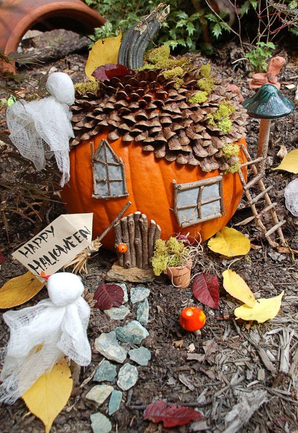 Beautiful Fall Fairy Garden Design Ideas 12