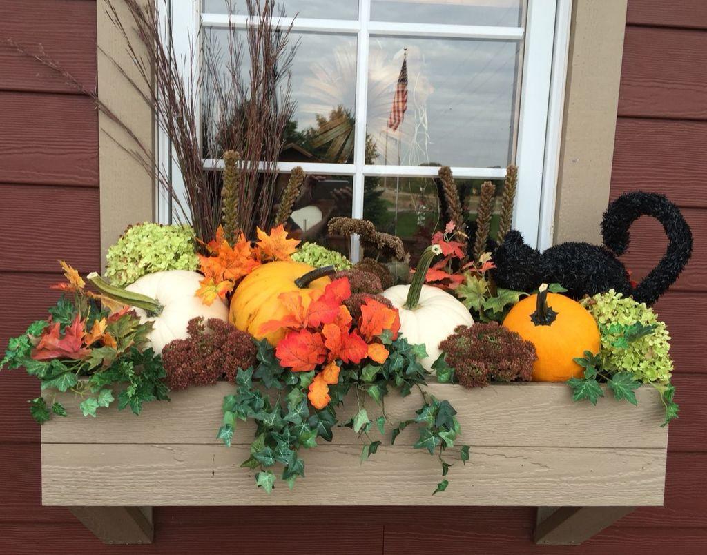 Beautiful Fall Window Boxes Design Ideas 24