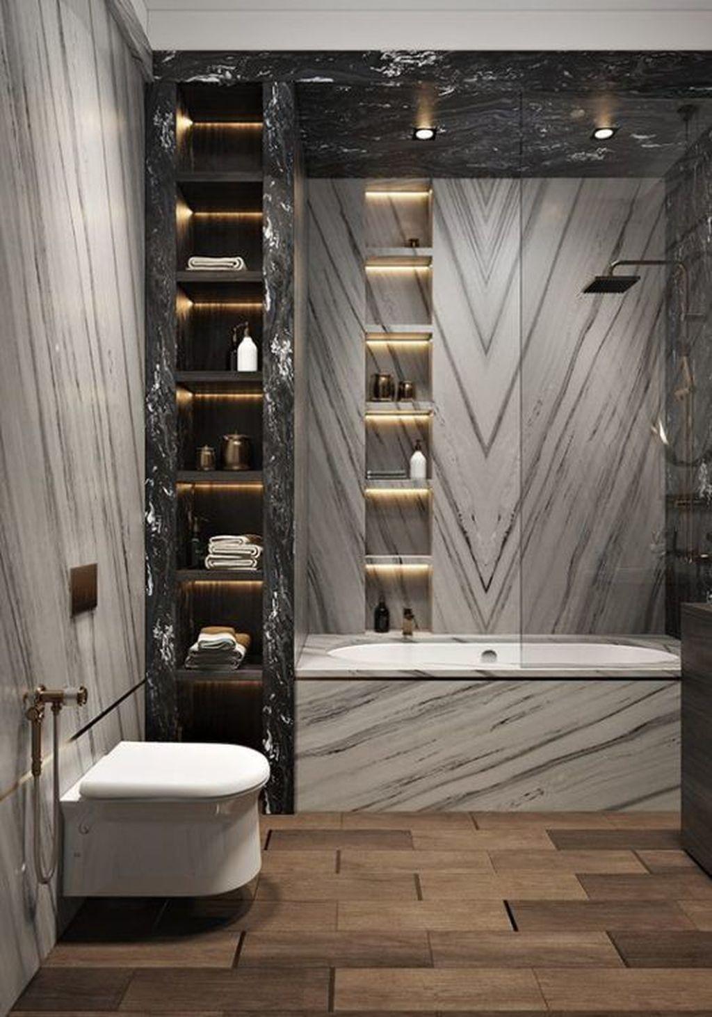 Fabulous Modern Master Bathroom Design Ideas 08