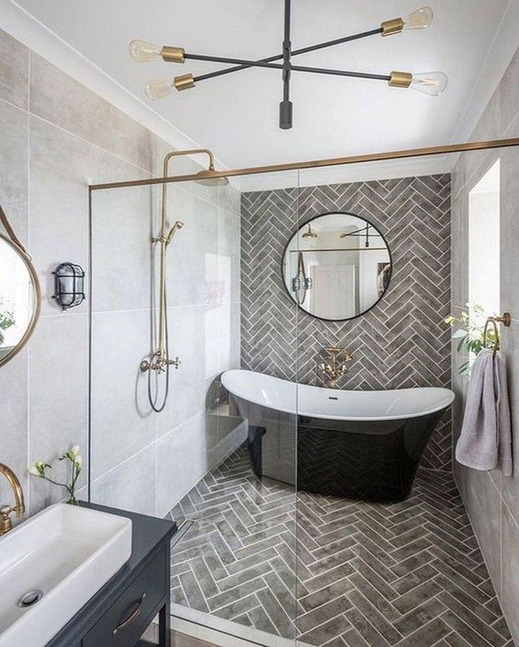 Fabulous Modern Master Bathroom Design Ideas 21