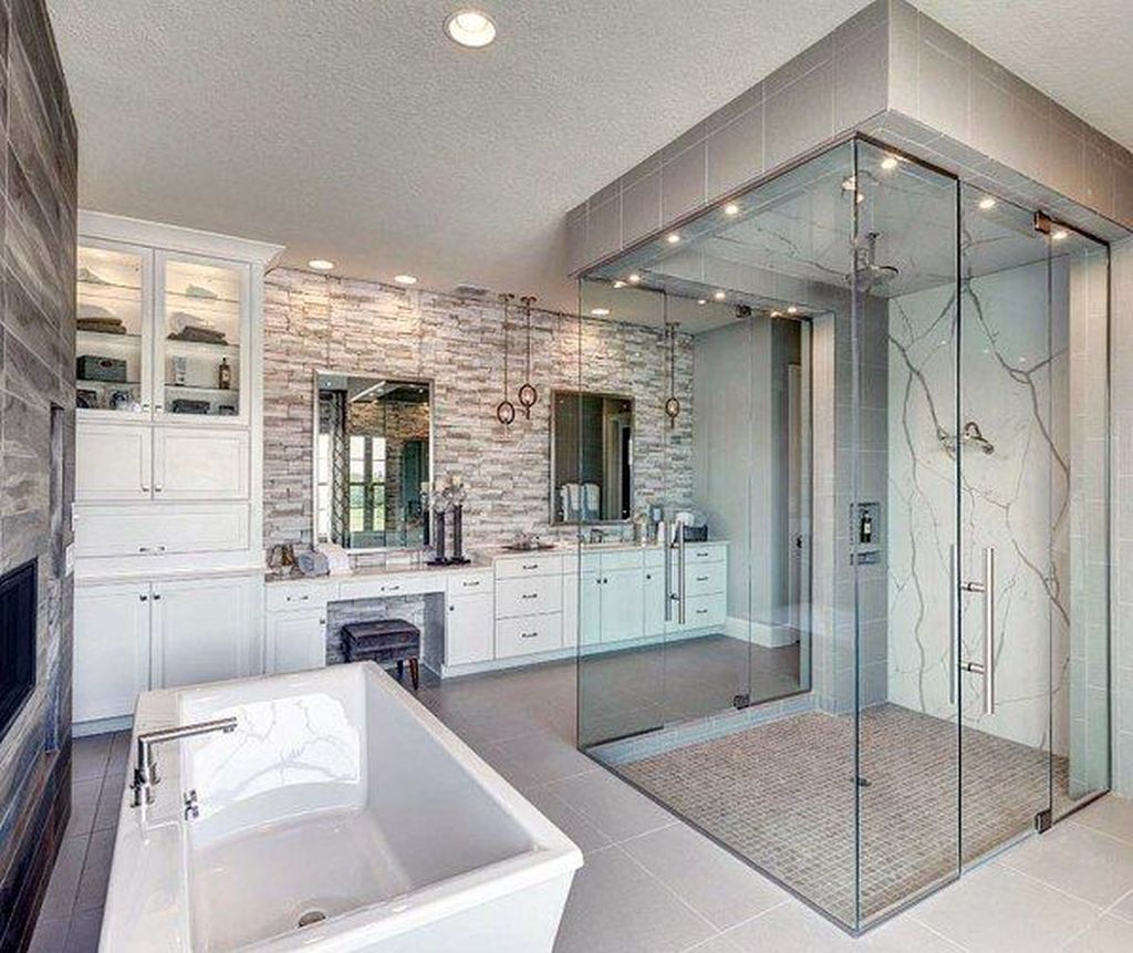Fabulous Modern Master Bathroom Design Ideas 25