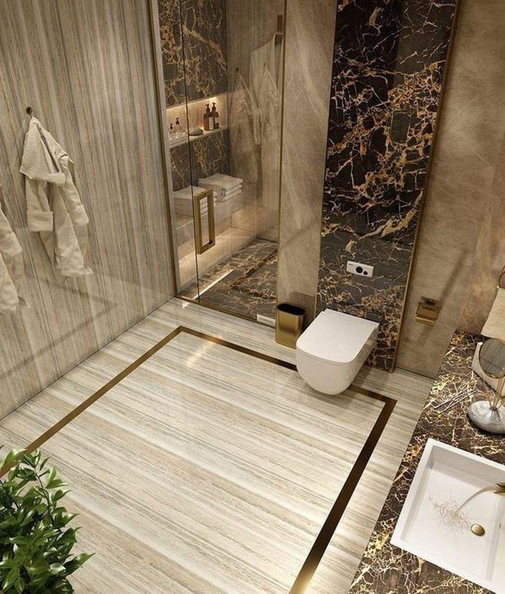 Fabulous Modern Master Bathroom Design Ideas 29