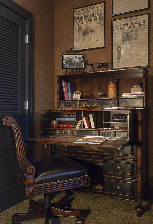 Gorgeous Rustic Office Decor Ideas 03