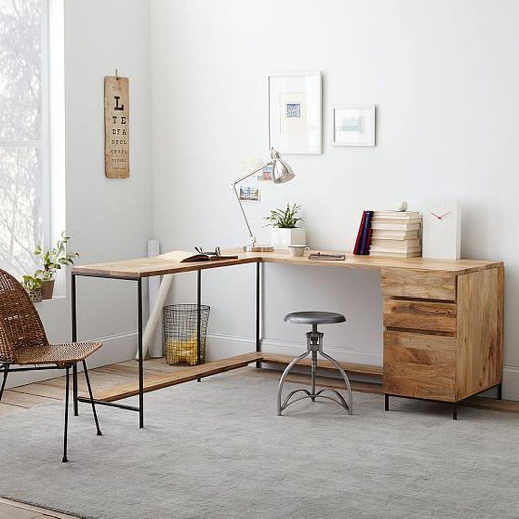 Gorgeous Rustic Office Decor Ideas 04