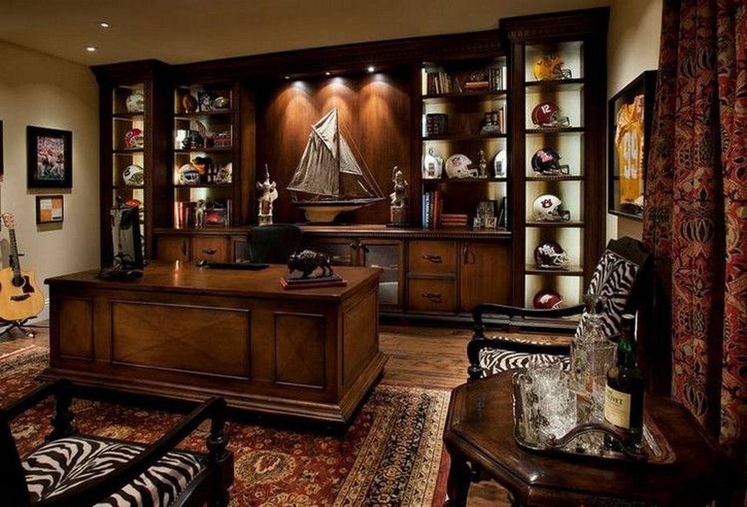 Gorgeous Rustic Office Decor Ideas 07