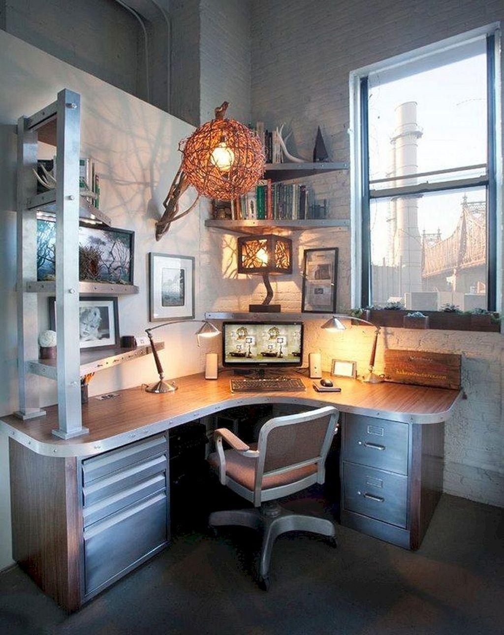 Gorgeous Rustic Office Decor Ideas 23