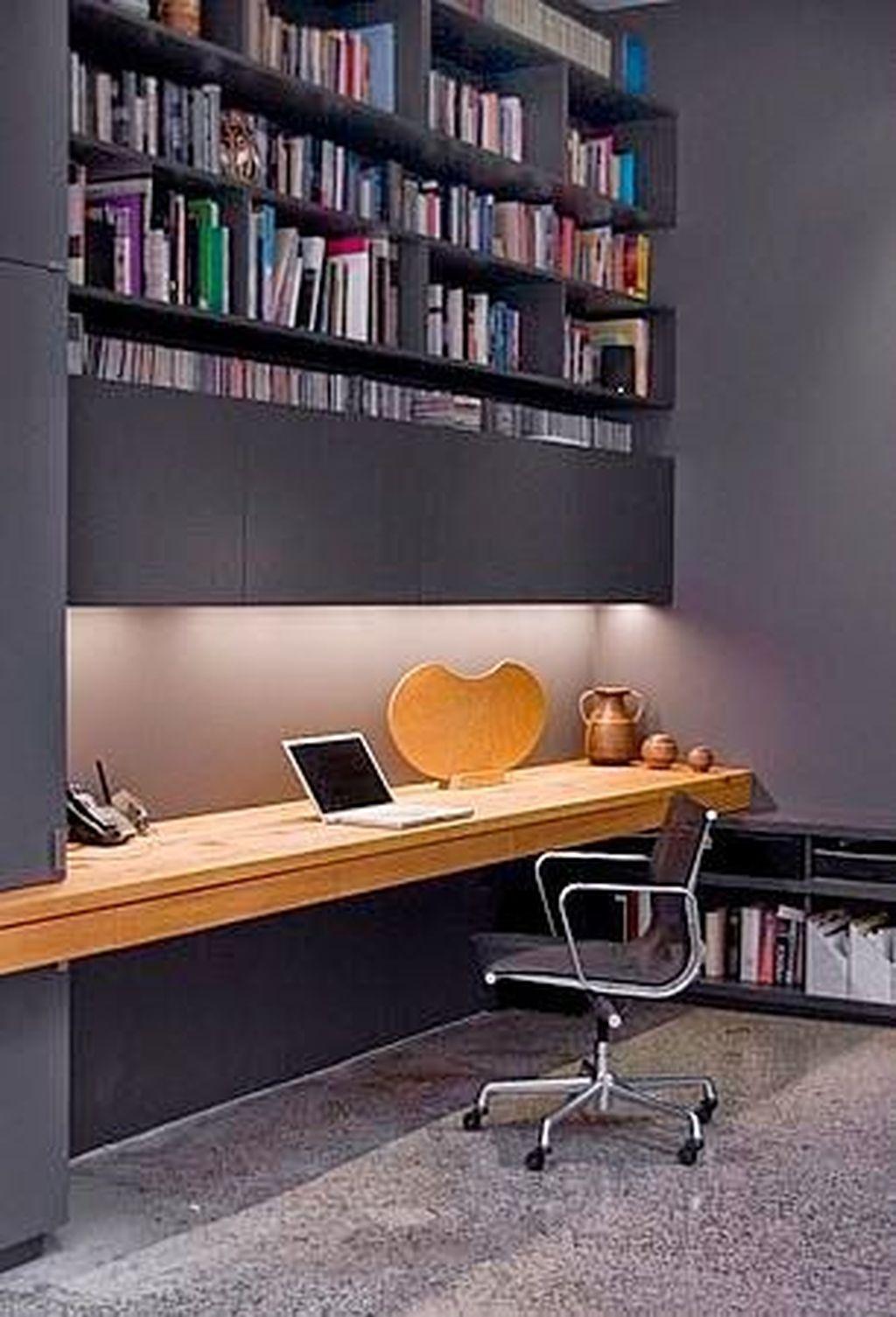 Gorgeous Rustic Office Decor Ideas 27