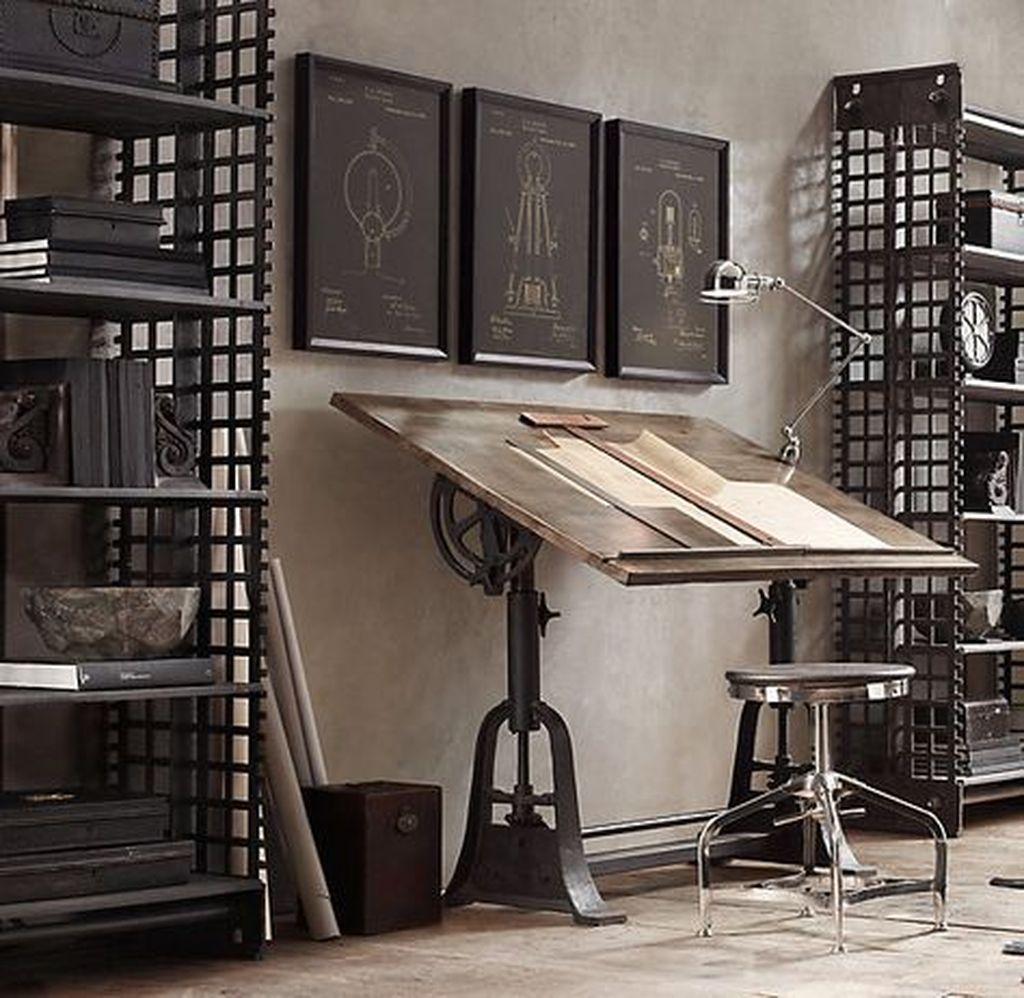 Gorgeous Rustic Office Decor Ideas 33