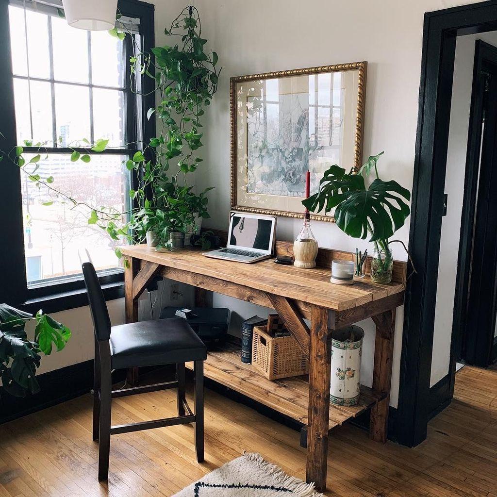 Gorgeous Rustic Office Decor Ideas 34