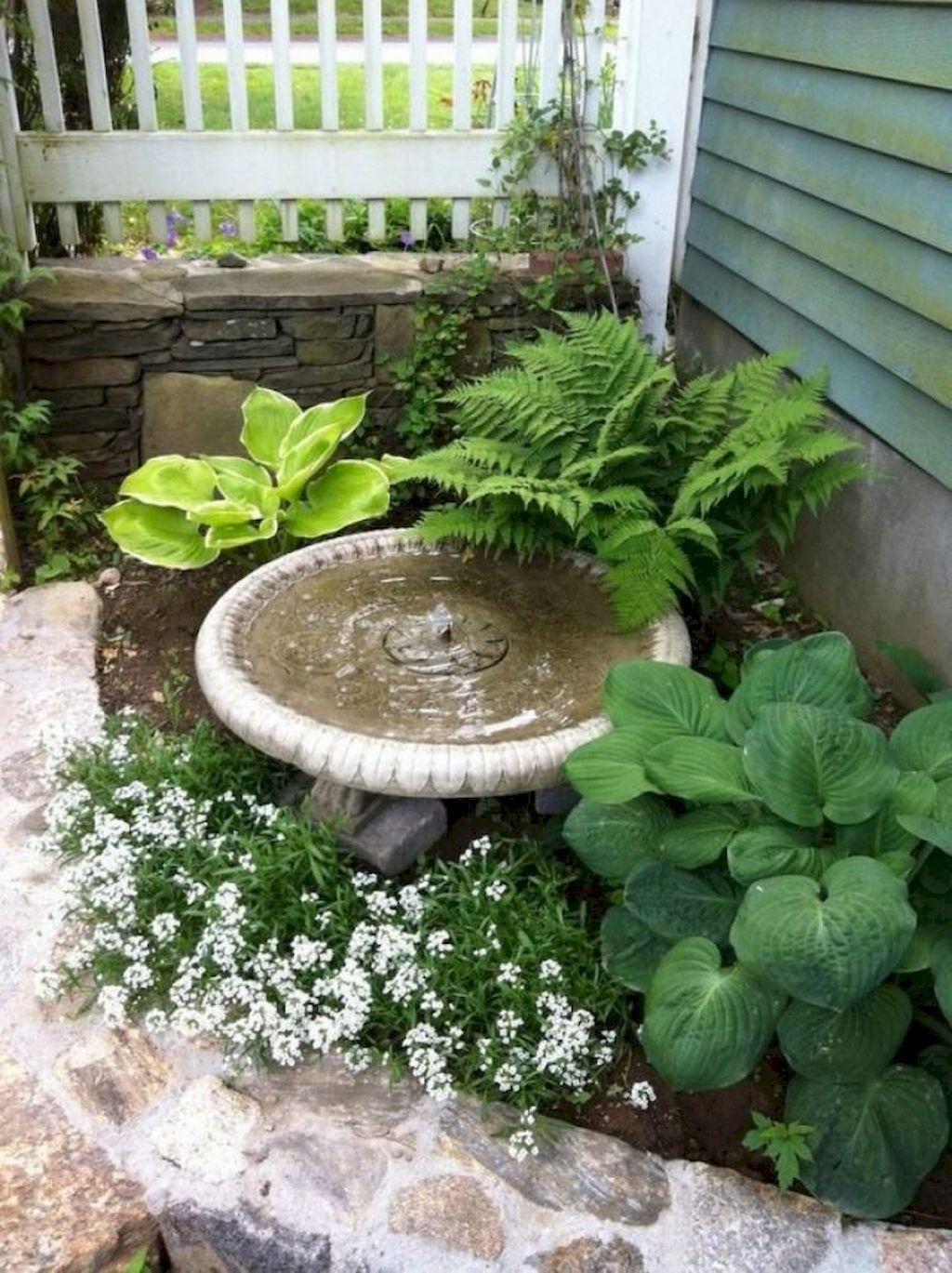 Inspiring Bird Bath Design Ideas For Front Yard 13