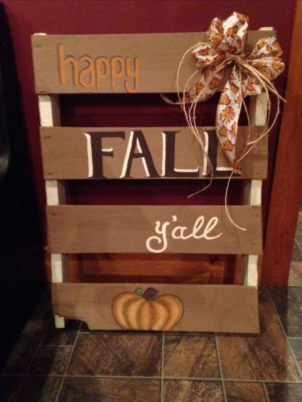 Inspiring Fall Pallet Signs Design Ideas For Your Home Decor 09