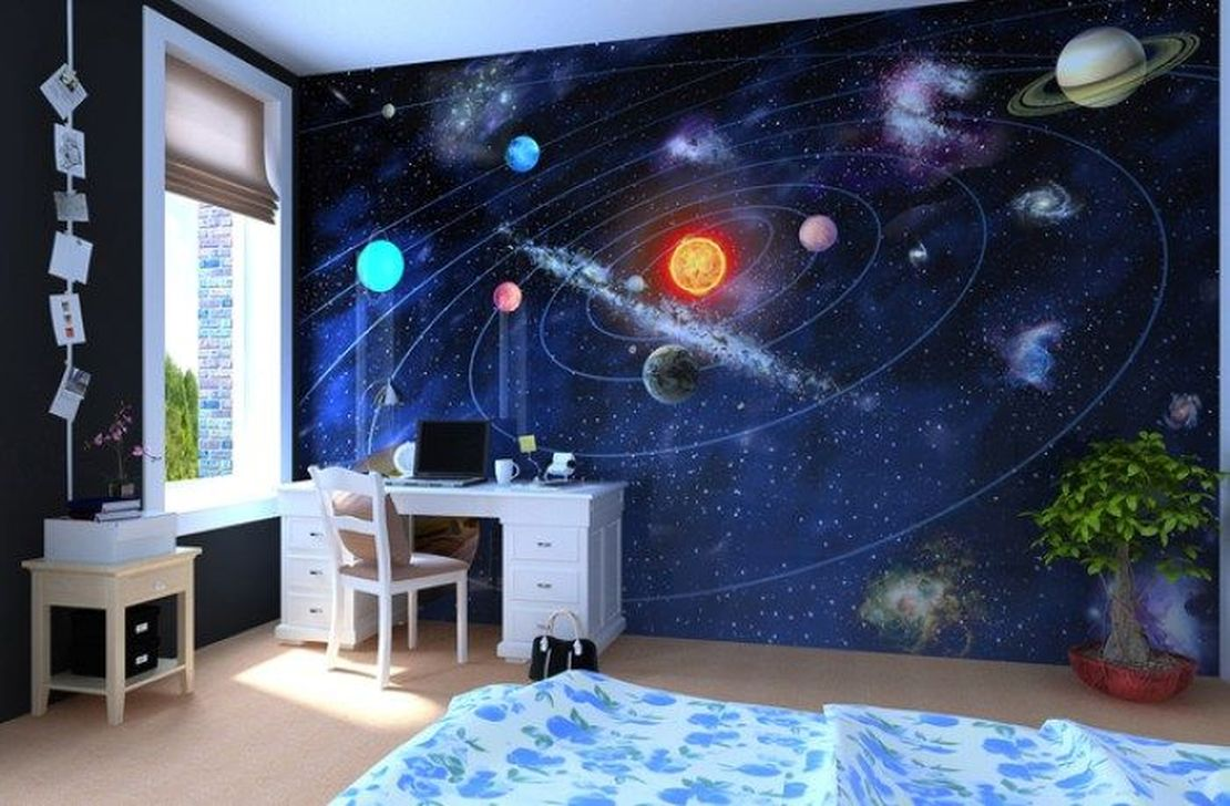 Inspiring Outer Space Bedroom Decor Ideas 12