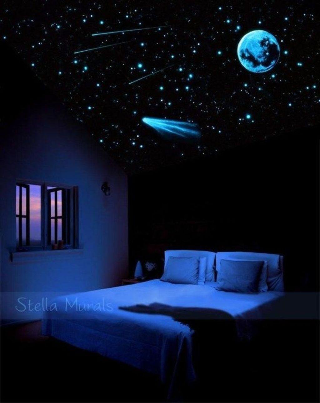Inspiring Outer Space Bedroom Decor Ideas 33
