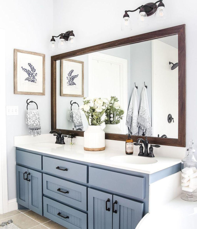 Inspiring Small Modern Farmhouse Bathroom Design Ideas 06