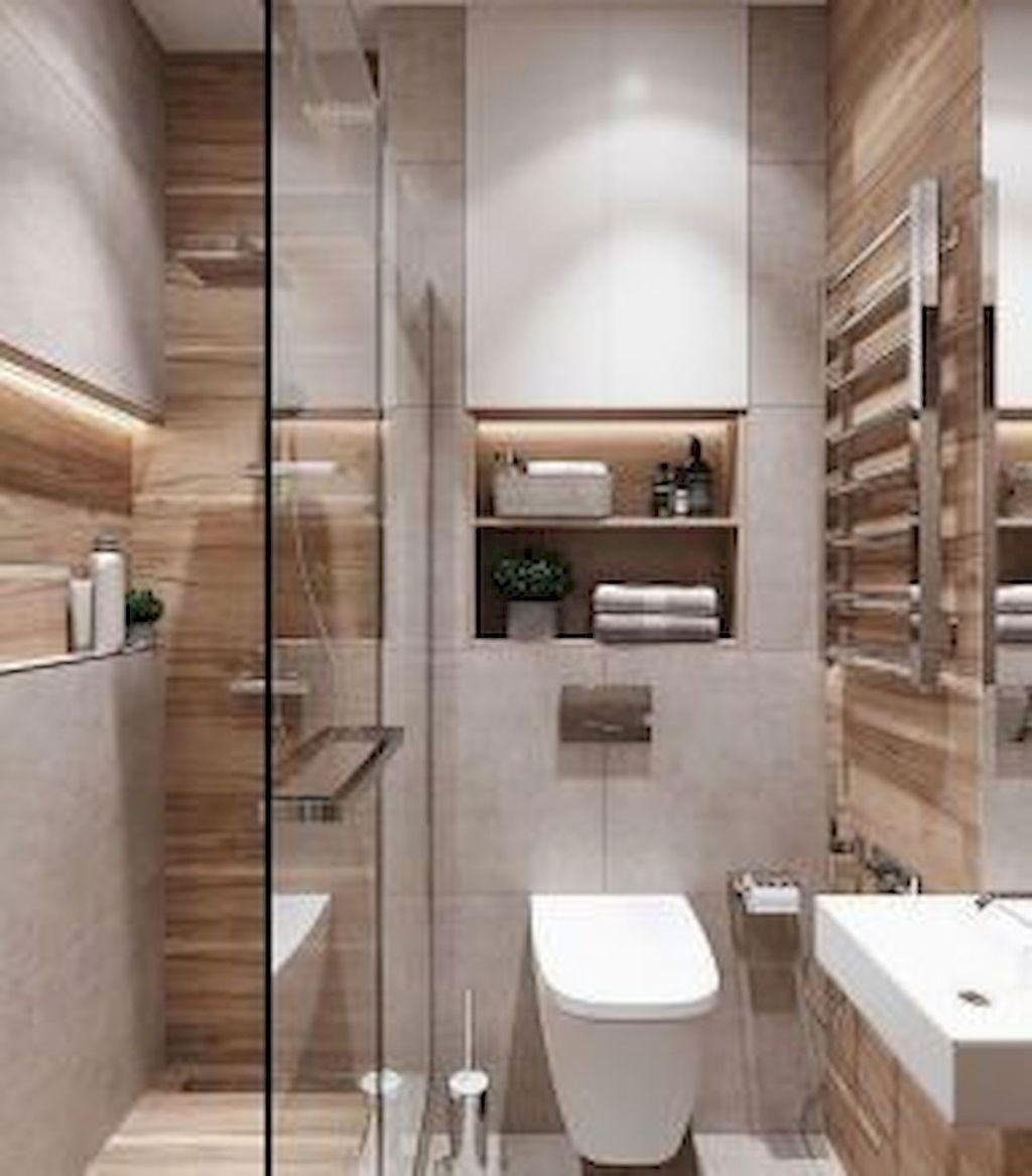 Inspiring Small Modern Farmhouse Bathroom Design Ideas 09