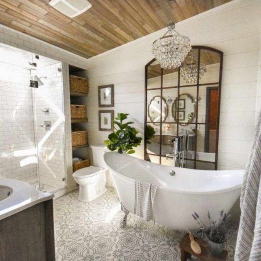 Inspiring Small Modern Farmhouse Bathroom Design Ideas 26
