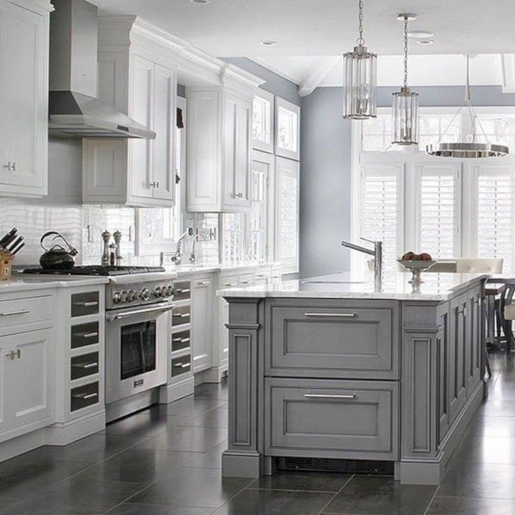 Lovely Grey White Kitchen Design Ideas 05