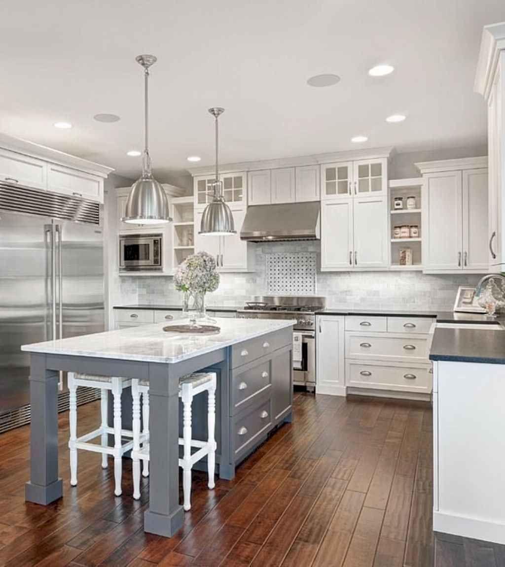 Lovely Grey White Kitchen Design Ideas 06
