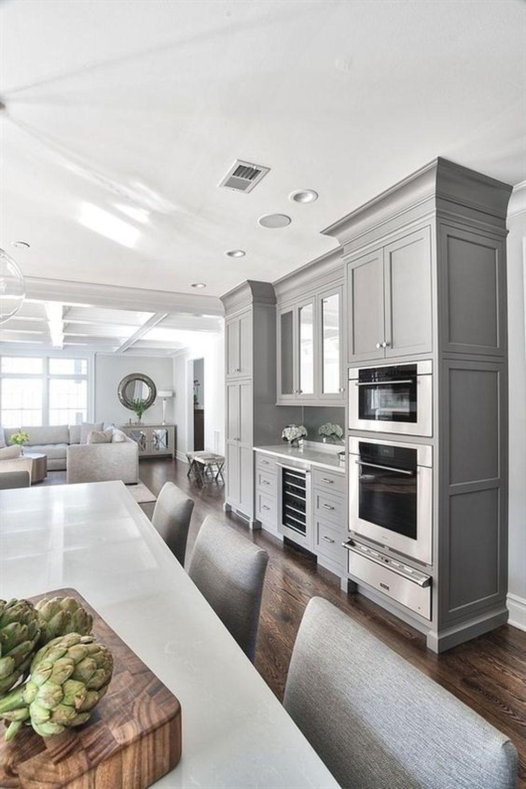Lovely Grey White Kitchen Design Ideas 18