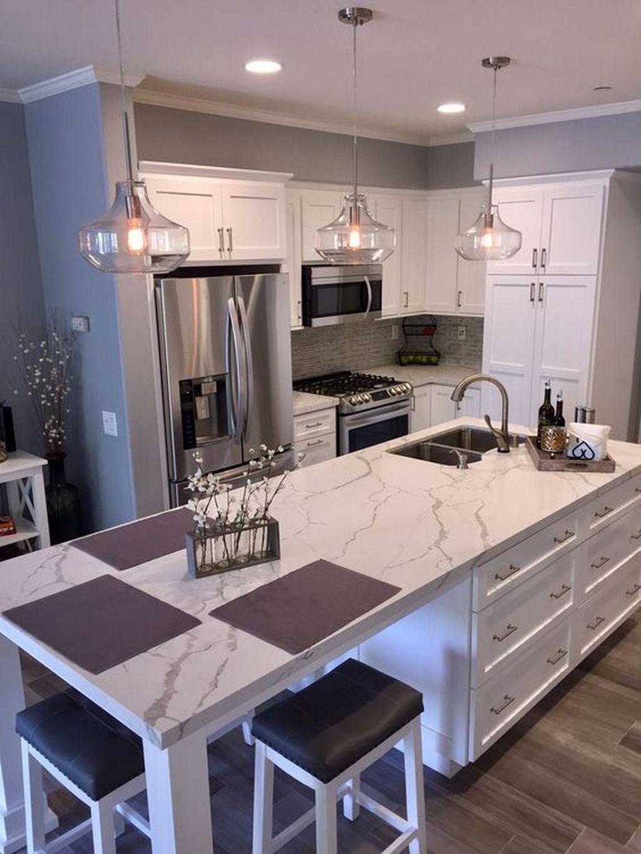 Lovely Grey White Kitchen Design Ideas 21