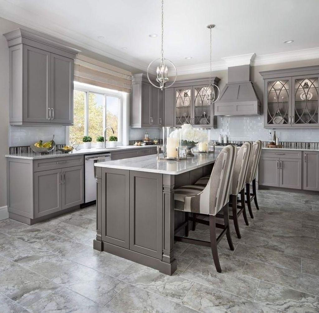 Lovely Grey White Kitchen Design Ideas 31