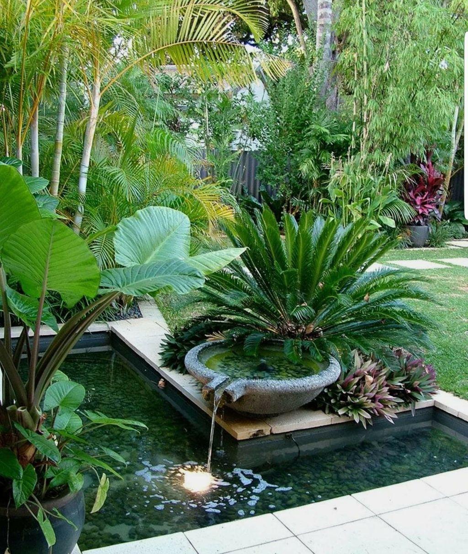 Lovely Tropical Garden Design Ideas 32