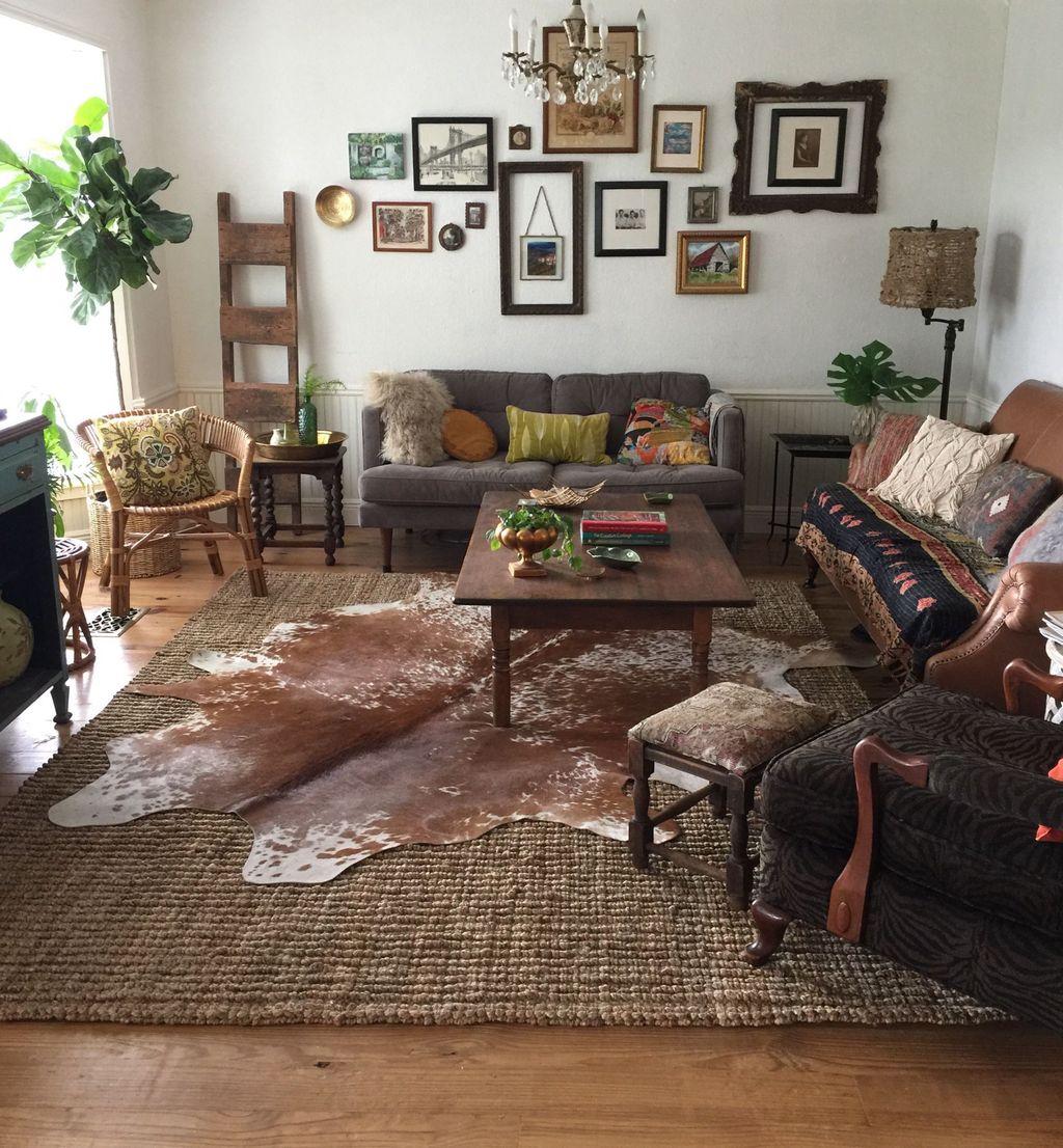 Nice Boho Farmhouse Design Ideas For Your Living Room Decoration 25