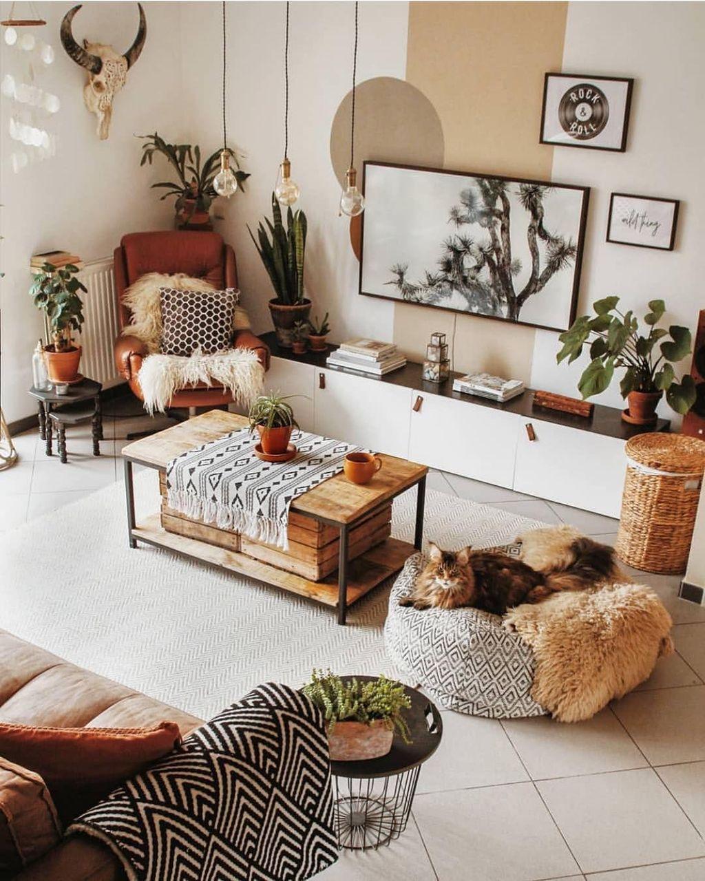 Nice Boho Farmhouse Design Ideas For Your Living Room Decoration 32