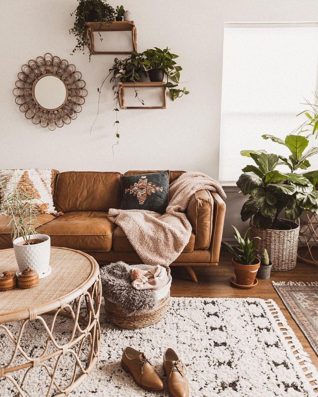 Nice Boho Farmhouse Design Ideas For Your Living Room Decoration 35