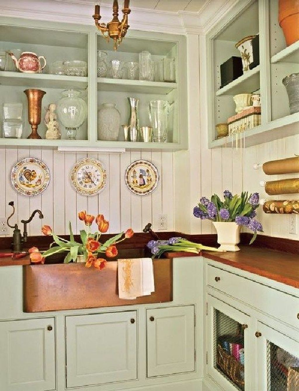 Nice Sage Kitchen Cabinets Design Ideas 04