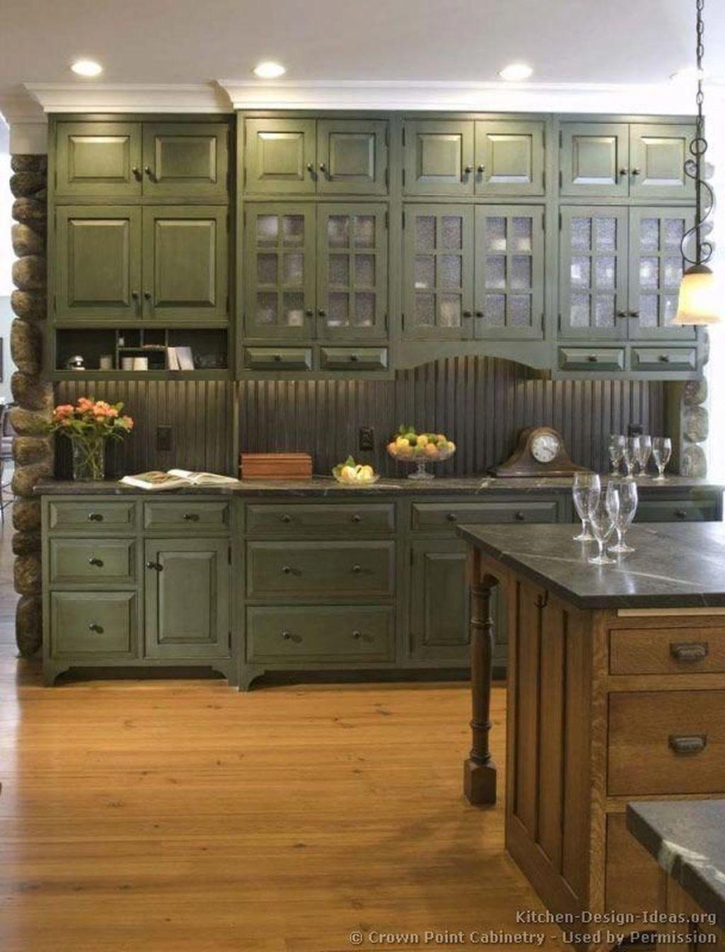 Nice Sage Kitchen Cabinets Design Ideas 17
