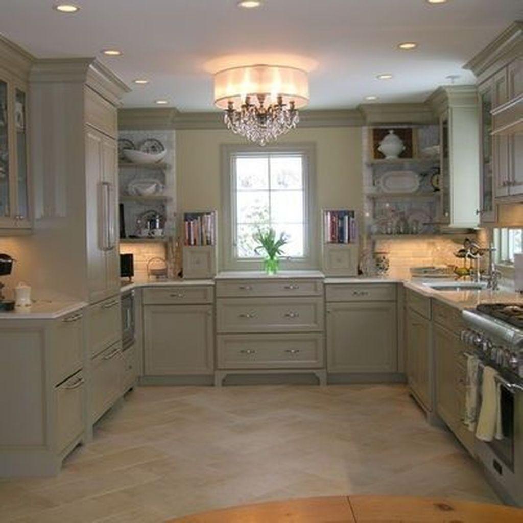 Nice Sage Kitchen Cabinets Design Ideas 26