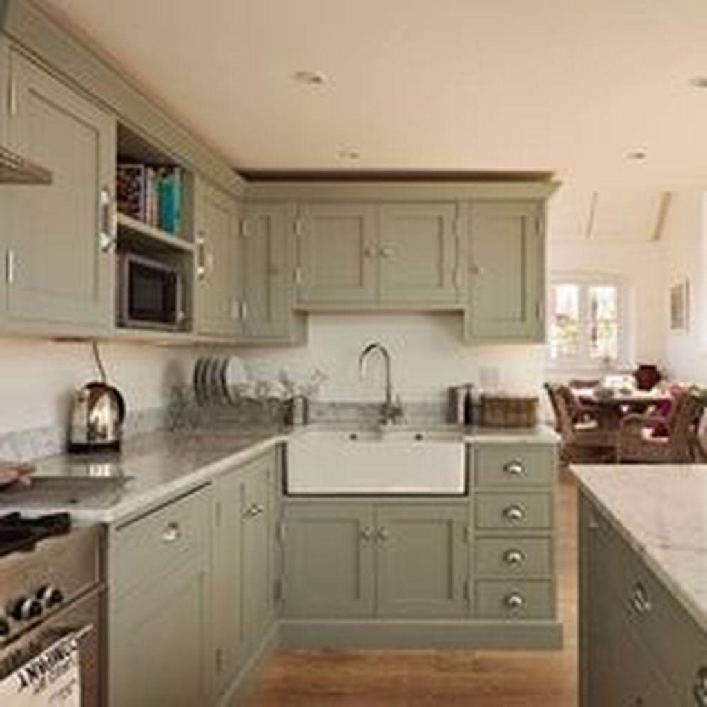 Nice Sage Kitchen Cabinets Design Ideas 27