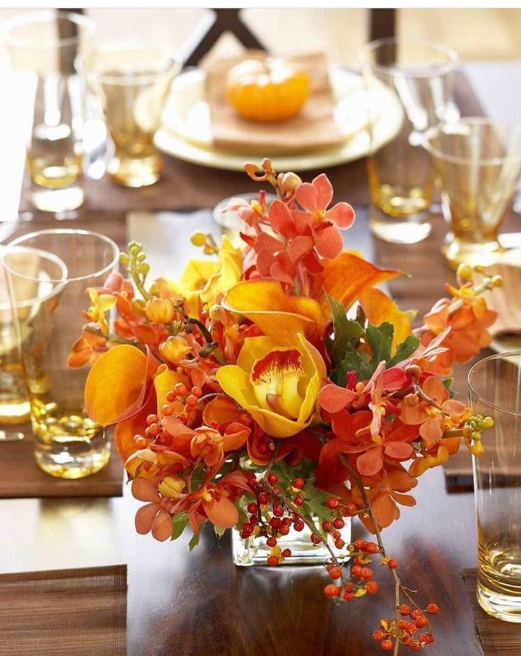Nice Thanksgiving Flower Arrangements Design Ideas 01