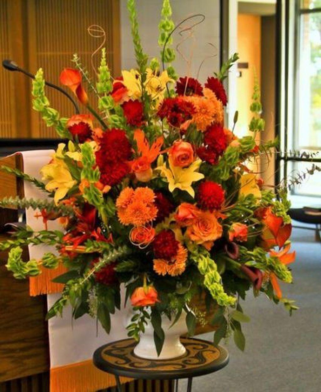 Nice Thanksgiving Flower Arrangements Design Ideas 09
