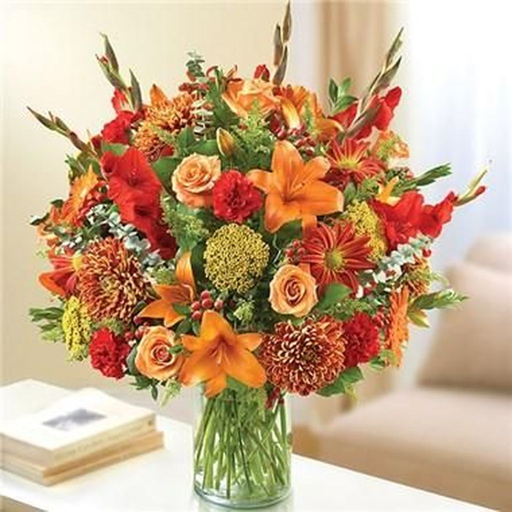 Nice Thanksgiving Flower Arrangements Design Ideas 20