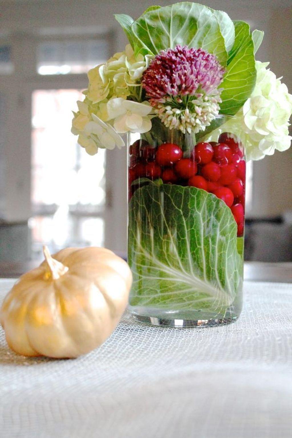 Nice Thanksgiving Flower Arrangements Design Ideas 31