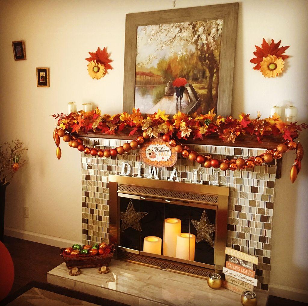 Popular Fall Fireplace Decoration Ideas 03
