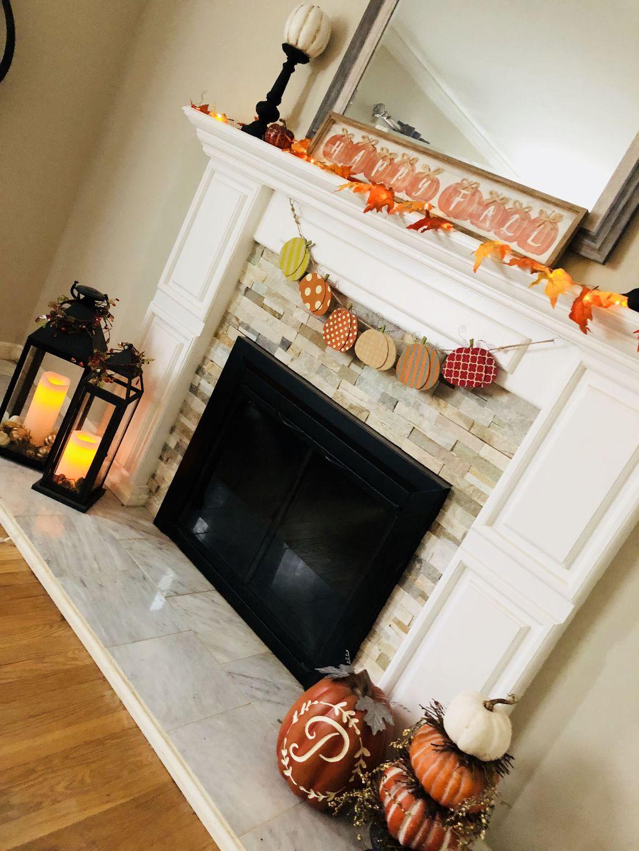 Popular Fall Fireplace Decoration Ideas 08