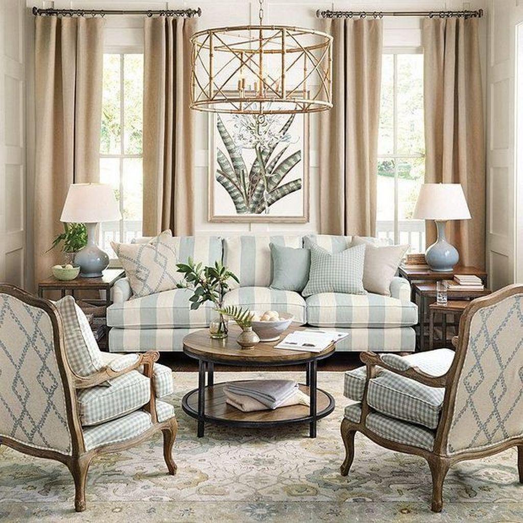 Stunning Farmhouse Living Room Decorating Ideas 10