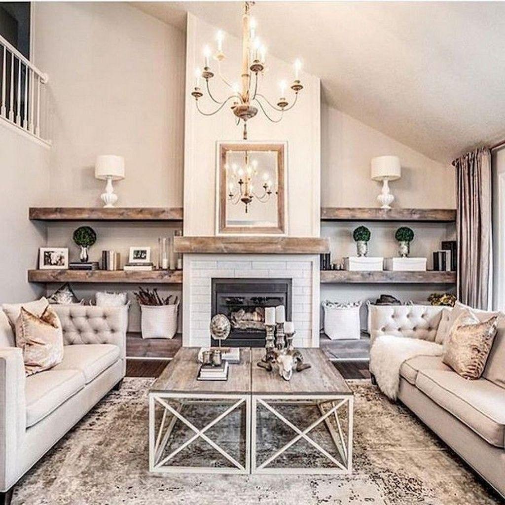 Stunning Farmhouse Living Room Decorating Ideas 11