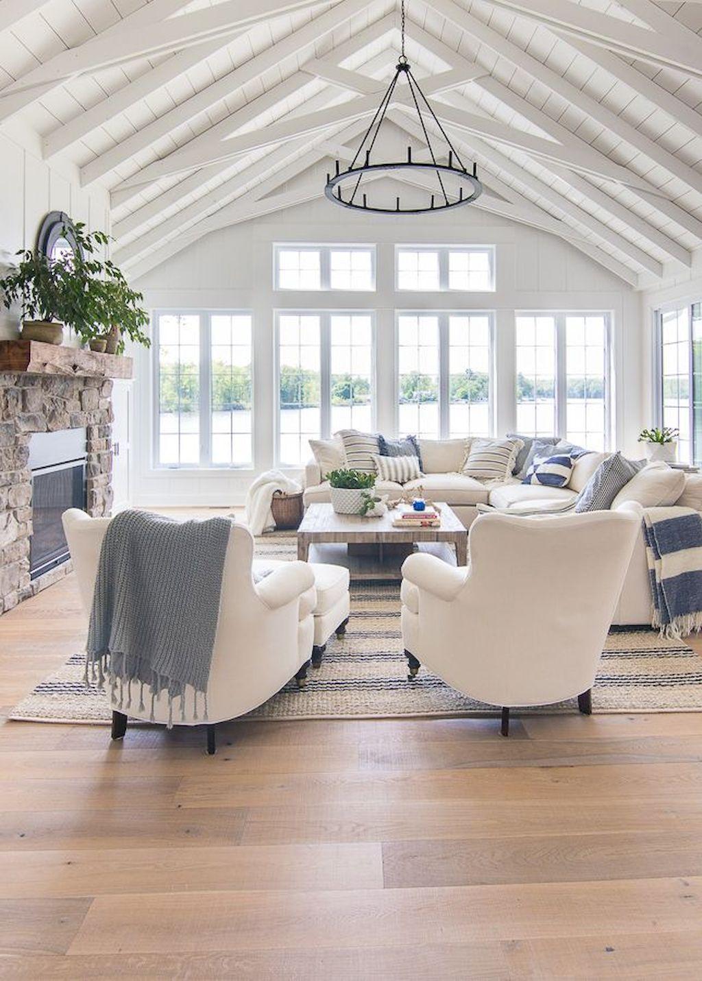 Stunning Farmhouse Living Room Decorating Ideas 12