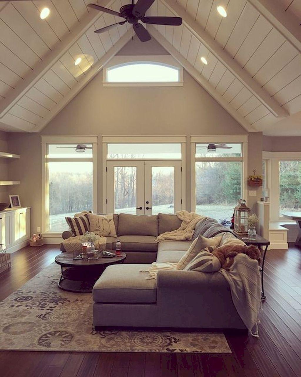 Stunning Farmhouse Living Room Decorating Ideas 17