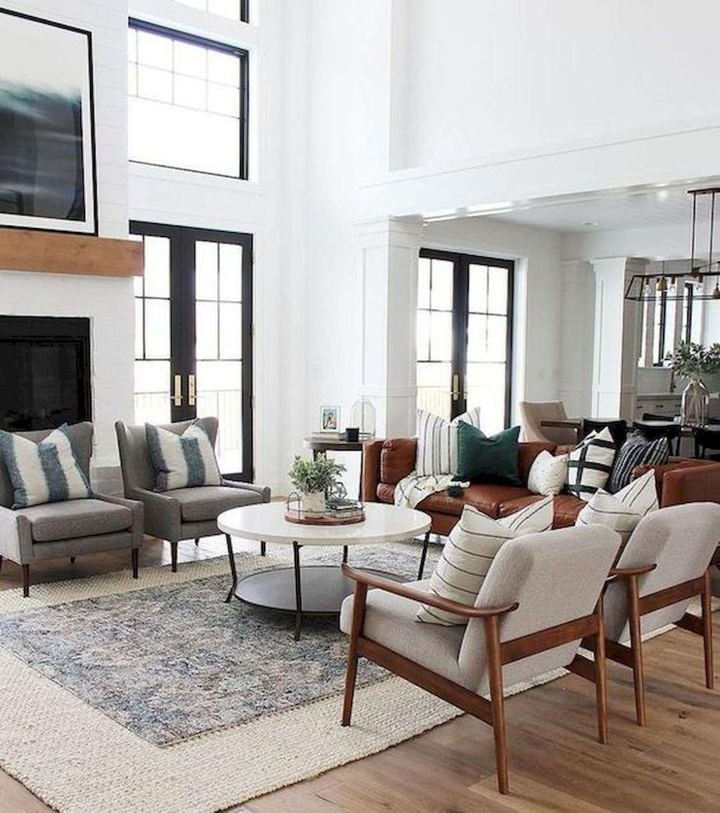 Stunning Farmhouse Living Room Decorating Ideas 21