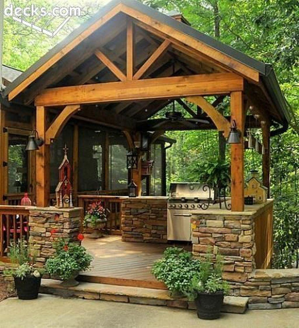 Stunning Outdoor Kitchen Design Ideas For Perfect Summer 03