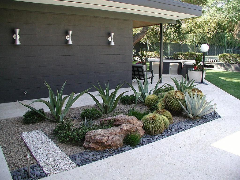 Beautiful Cactus Landscaping Ideas For Your Front Yards Decor 31